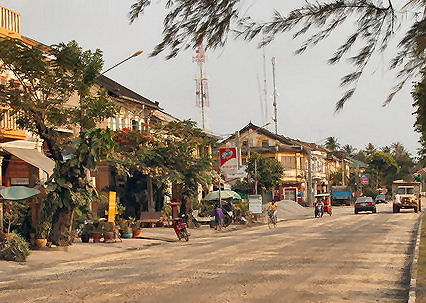 Streets of  Kampot