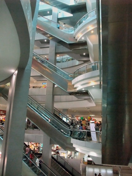 The escalators