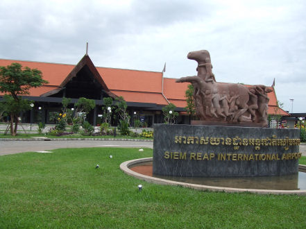 The airport of Siem Reap